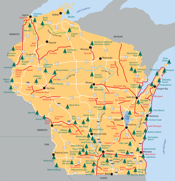 Map Of Wisconsin State Parks Wisconsin State Park's Open House Day   Lakeview PowerUp